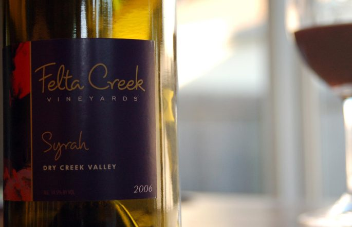 2006 Felta Creek Syrah, De La Montanya Vineyards, Dry Creek Valley